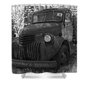 Retired Rusty Relic Farm Truck Shower Curtain