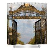 Retiro Park Entrance In Madrid Shower Curtain