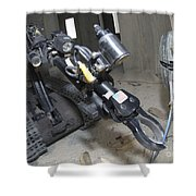 Retractable Arm Of Talon 3b Robot Shower Curtain by Stocktrek Images