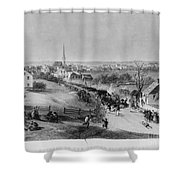 Retreat Of British From Concord Shower Curtain