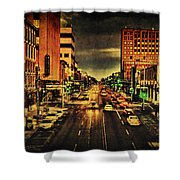 Retro College Avenue Shower Curtain by Joel Witmeyer