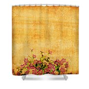 Retro Flower Pattern Shower Curtain