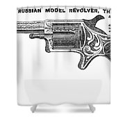 Revolver Ad, 1878 Shower Curtain