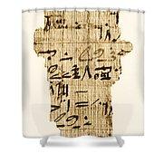Rhind Papyrus Shower Curtain