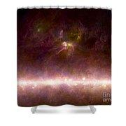 Rho Ophiuchi Nebula And Galactic Center Shower Curtain