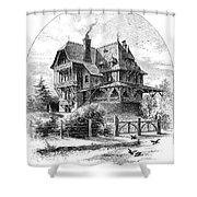 Rhode Island: Villa, 1876 Shower Curtain by Granger