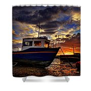 Rhos Sunrise Shower Curtain