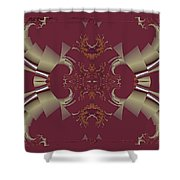 Ribbons To Claws Shower Curtain