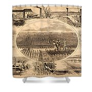 Rice Plantation, 1866 Shower Curtain
