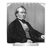 Richard Cobden (1804-1865). /nenglish Politician And Economist. Steel Engraving, English, 19th Century Shower Curtain