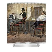 Richmond Barbershop, 1850s Shower Curtain