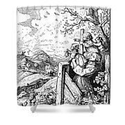 Richter Illustration Shower Curtain