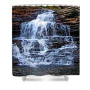 Ricketts Glen Waterfall 4075 Shower Curtain