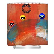 Ride A White Wave Shower Curtain
