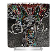 Ride Like The Devil Shower Curtain