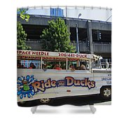 Ride The Ducks Shower Curtain