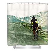 Ride The Rockies Shower Curtain