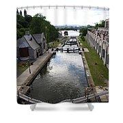 Rideau Canal And Locks - Ottawa Shower Curtain
