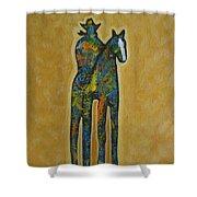Rider One Shower Curtain