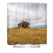 Ridge Top School Shower Curtain by Jean Noren
