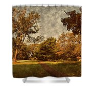 Ridge Walk - Holmdel Park Shower Curtain by Angie Tirado