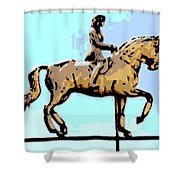Riding Copper Shower Curtain