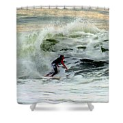 Riding In Beauty Shower Curtain by Karen Wiles