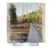 Riding The Rail II Shower Curtain