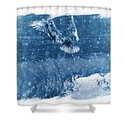 Riding The Wave The Gull Shower Curtain