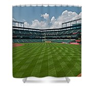 Right To Left At Oriole Park Shower Curtain