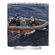 Rigid-hull Inflatable Boat Operators Shower Curtain