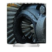 Ring And Pinion  Shower Curtain