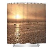 Ringling Bridge Morning Shower Curtain