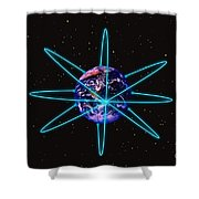 Rings Around The Earth Shower Curtain
