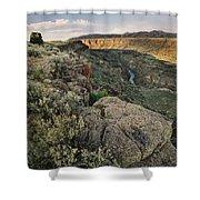 Rio Grande Gorge Above Taos Junction Bridge Shower Curtain