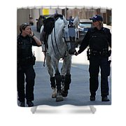 Riot Horse Shower Curtain