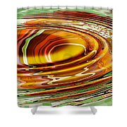 Rippled Abstract Shower Curtain