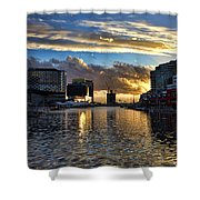 Rippled Waters  Shower Curtain