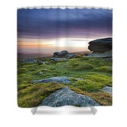 Rippon Tor II Shower Curtain by Sebastian Wasek