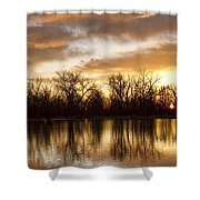 Rising Sun At Crane Hollow Shower Curtain