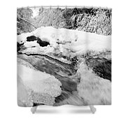 River And Snow II Shower Curtain