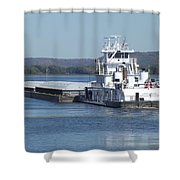 River Barge Shower Curtain
