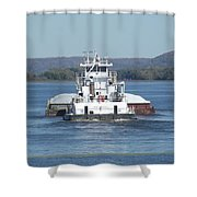 River Barge II Shower Curtain