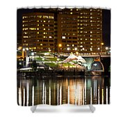 River Front At Night Shower Curtain