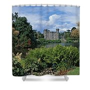 River In Front Of A Castle, Johnstown Shower Curtain