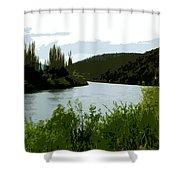 River Landscape Scene Shower Curtain
