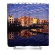 River Liffey And Halfpenny, Bridge Shower Curtain
