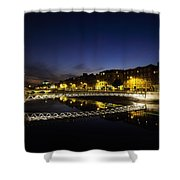 River Liffey, Millenium Footbridge At Shower Curtain