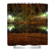 River Night Smooth Shower Curtain