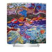 River Of Life Shower Curtain by Heather Hennick